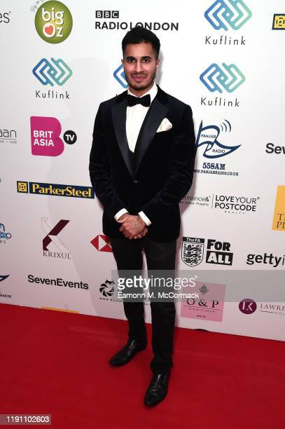 Arjun attends the Brit Asia TV Music Awards 2019 at SSE Arena Wembley on November 30 2019 in London England
