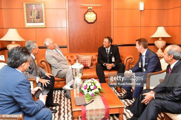 Arjun Atwal Team Asia Captain pictured with Prime Minister of Malaysia Dato' Seri Mohd Najib Tun Abdul Razak during his visit ahead of the 2018...