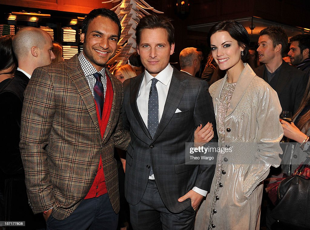 Arjun Gupta, Peter Facinelli and Jaimie Alexander attend the Tommy Hilfiger & GQ celebrate Men of New York at the 5th Avenue Flagship on November 29, 2012 in New York City.
