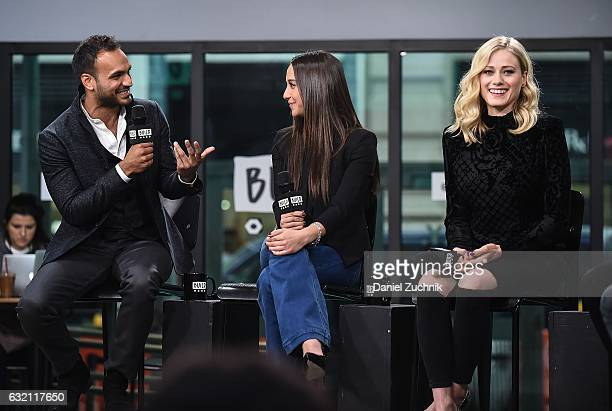 Arjun Gupta Stella Maeve and Olivia Taylor Dudley attend the Build Series to discuss the show 'The Magicians' at Build Studio on January 19 2017 in...