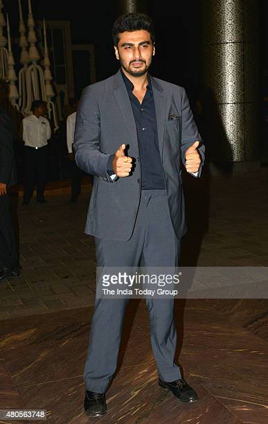 Arjun Kapoor at the wedding reception of Shahid Kapur and Mira Rajput in Mumbai
