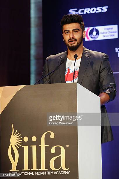 Arjun Kapoor attends the IIFA 2015 press conference held at Grand Hyatt on May 28 2015 in Mumbai India