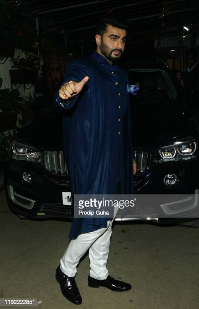 Arjun Kapoor attends the PANIPAT movie screening on December 05 2019 in Mumbai India