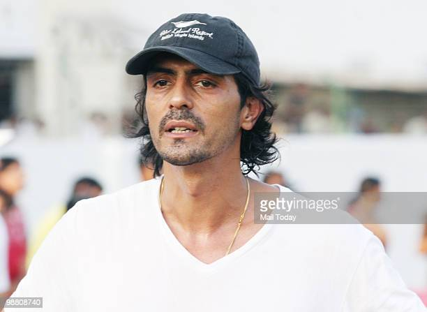 Arjun Rampal at a celebrity cricket match with the cast of Houseful in Mumbai on May 2 2010