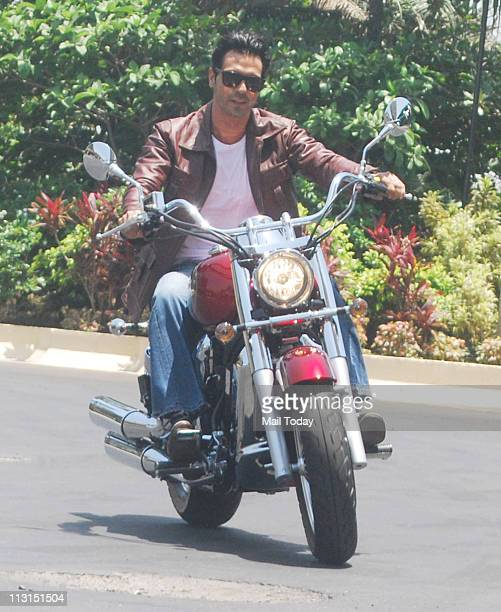 Arjun Rampal at the launch of Garware Motor's 'Hyosung Super Bikes' at Taj Land's End Mumbai on April 22 2011