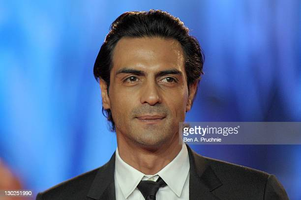 Arjun Rampal attends the UK premiere of RA One at 02 Arena on October 25 2011 in London England
