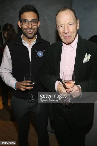 Arjun Sahgal and Anthony HadenGuest attend AVENUE Celebrate its two Newest Contributing Editors Nina Griscom and Anthony HadenGuest on February 13...
