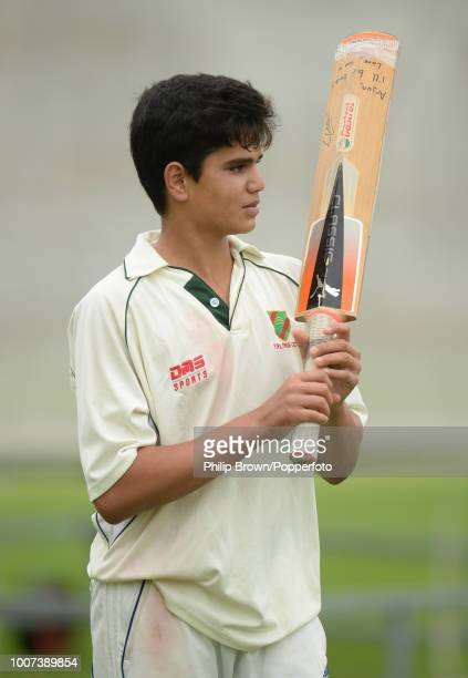 Arjun Tendulkar son of Sachin Tendulkar joins in with an England cricket team training session before the 2nd Ashes Test match between England and...
