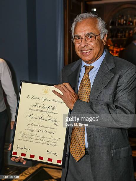 Arjun Waney attends a dinner at The Arts Club in honour of the Club presenting Professor Stephen Hawking with the Luminary Lifetime Membership Award...