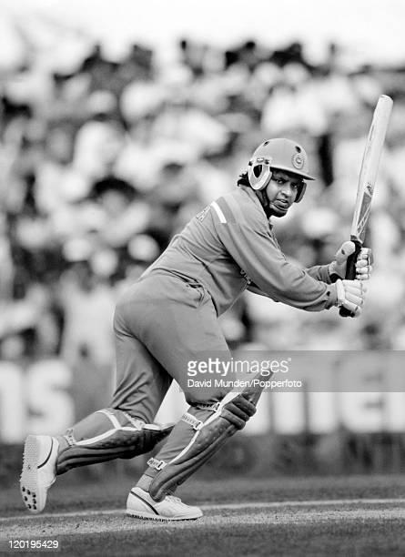 Arjuna Ranatunga batting for Sri Lanka circa 1990
