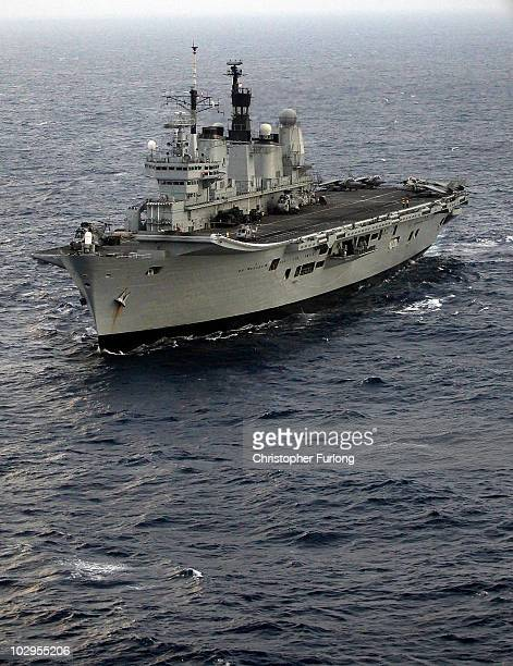 Ark Royal patrols the sea during Exercise Auriga on July 14 2010 at sea in Omslow Bay near North Carolina HMS Ark Royal the nation's strike carrier...