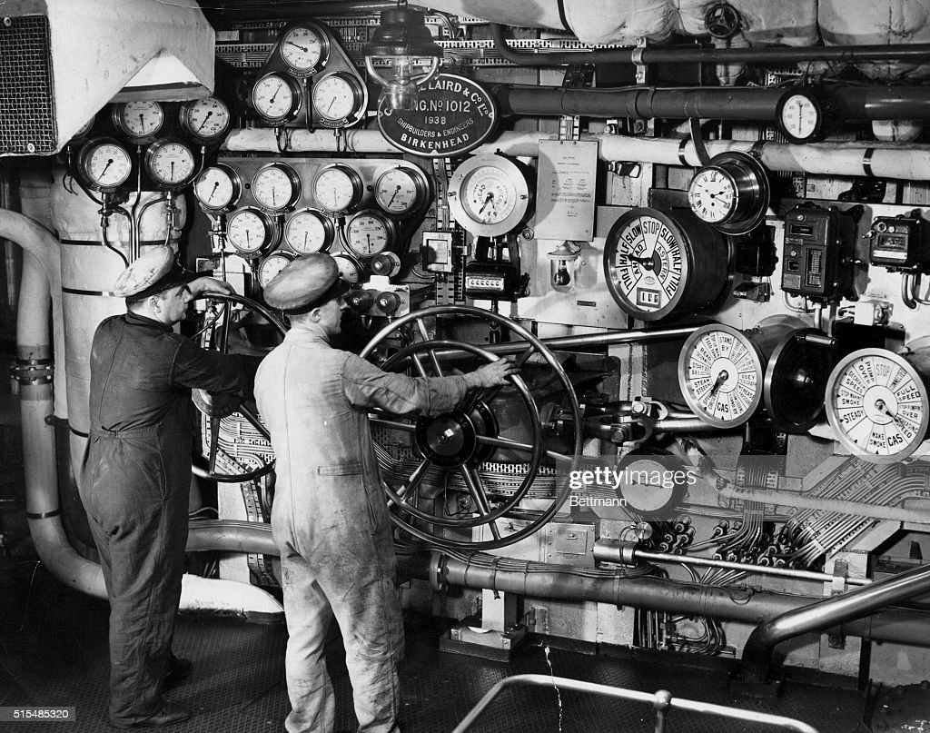 The Engine Room of H.M.S. Ark Royal : News Photo
