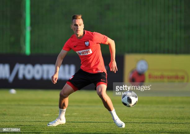 Arkadiusz Milik during a training session of the Polish national team at Arlamow Hotel during the second phase of preparation for the 2018 FIFA World...