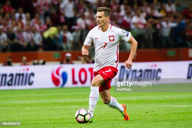Arkadiusz Milik during the 2018 World Cup Qualifying Match Poland vs Romania 10 June Warsaw Poland
