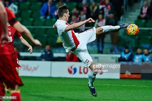 Arkadiusz Milik during the International friendly match between Poland and Czech Republic on November 17 2015 at the Wroclaw Stadium in Wroclaw Poland