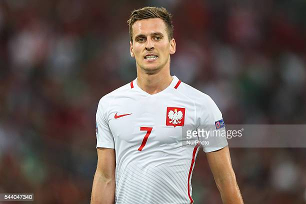 Arkadiusz Milik during the UEFA EURO 2016 quarter final match between Poland and Portugal at Stade Velodrome on June 30 2016 in Marseille France