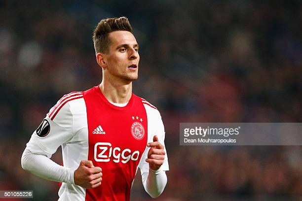 Arkadiusz Milik of Ajax in action during the group A UEFA Europa League match between AFC Ajax and Molde FK held at Amsterdam Arena on December 10...