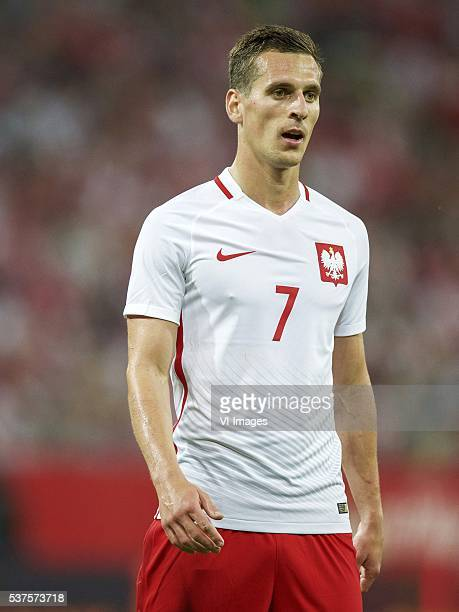 Arkadiusz Milik of Poland during the International friendly match between Poland and Netherlands on June 1 2016 at the Gdansk Arena in Gdansk Poland
