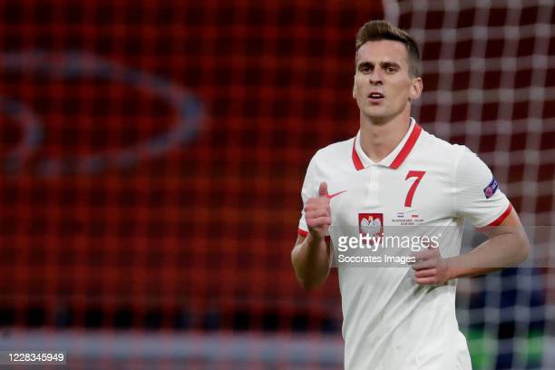 Arkadiusz Milik of Poland during the UEFA Nations league match between Holland v Poland at the Johan Cruijff ArenA on September 4, 2020 in Amsterdam...