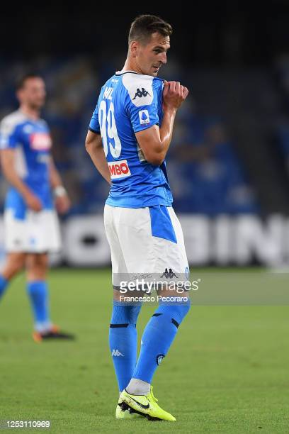 Arkadiusz Milik of SSC Napoli during the Serie A match between SSC Napoli and SPAL at Stadio San Paolo on June 28, 2020 in Naples, Italy.
