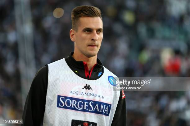 Arkadiusz Milik of Ssc Napoli looks on before during the Serie A football match between Juventus Fc and Ssc Napoli. Juventus FC beat SSC Napoli 3-1.