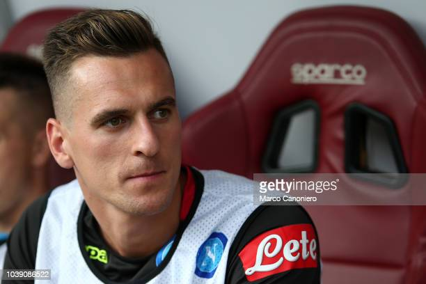 Arkadiusz Milik of Ssc Napoli looks on before the Serie A football match between Torino Fc and Ssc Napoli