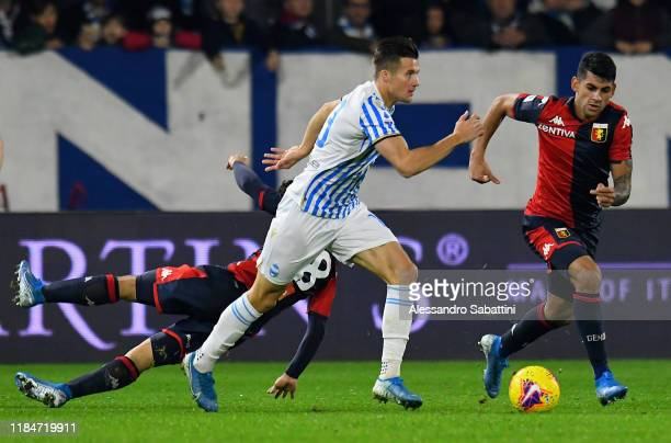 Arkadiusz Reca of SPAL in action during the Serie A match between SPAL and Genoa CFC at Stadio Paolo Mazza on November 25 2019 in Ferrara Italy