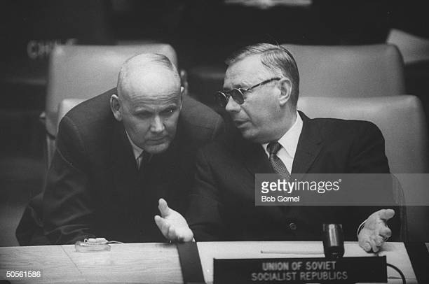 Arkady A Sobelev at United Nation meeting re Eichmann case involving Argentina and Israel