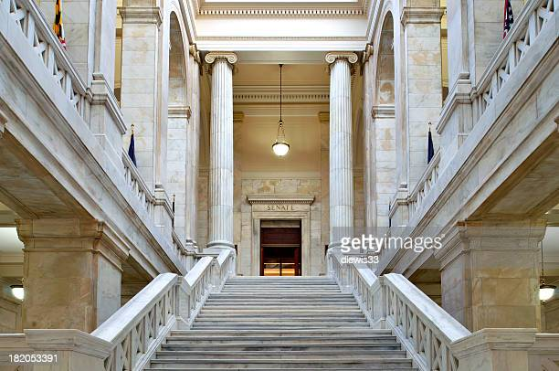 arkansas capitol building interior - arkansas stock pictures, royalty-free photos & images