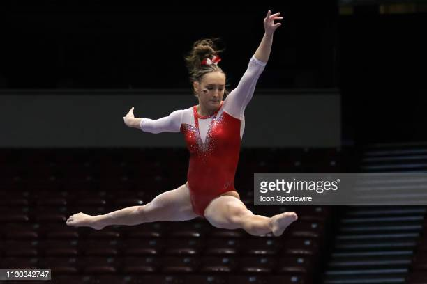 Arkansas gymnast Kennedy Hambrick during the Elevate the Stage Meet on March 8 2019 at Legacy Arena in Birmingham Alabama