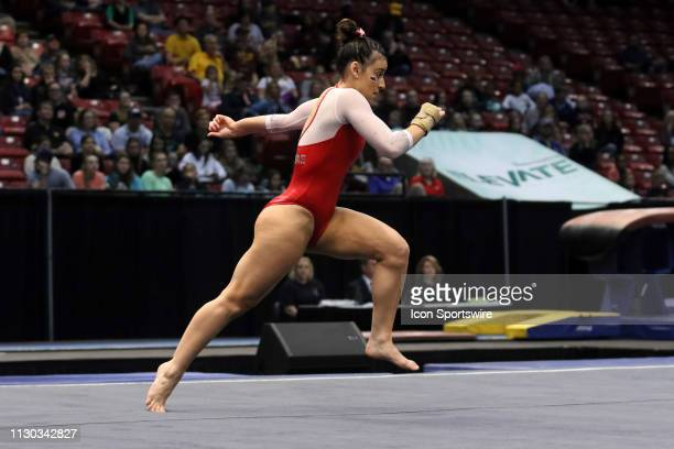 Arkansas gymnast Sophia Carter during the Elevate the Stage Meet on March 8 2019 at Legacy Arena in Birmingham Alabama