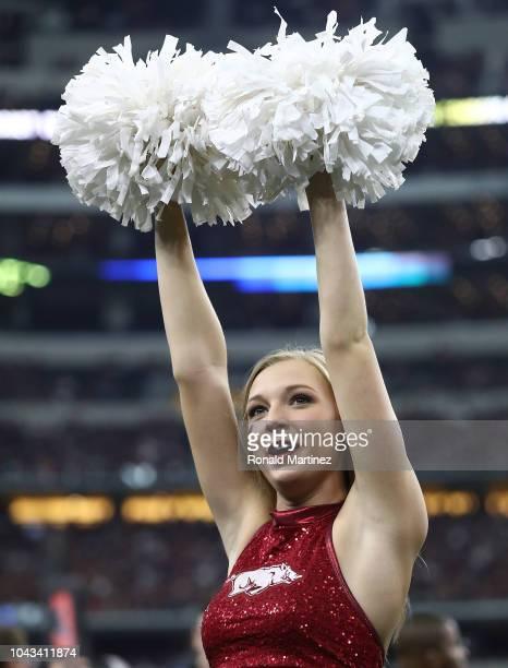 Arkansas Razorbacks cheerleader during Southwest Classic at ATT Stadium on September 29 2018 in Arlington Texas