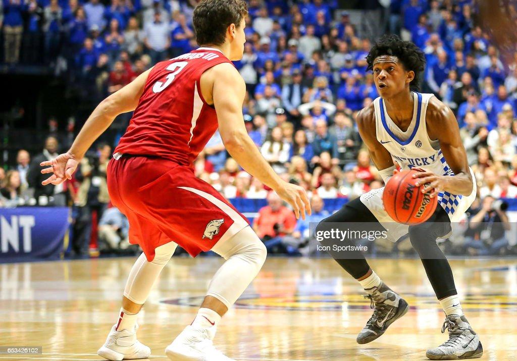COLLEGE BASKETBALL: MAR 12 SEC Tournament - Kentucky v Arkansas : News Photo