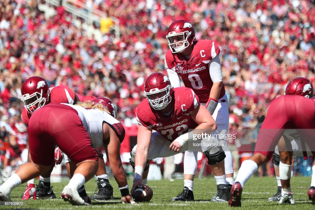COLLEGE FOOTBALL: SEP 30 New Mexico State at Arkansas : News Photo