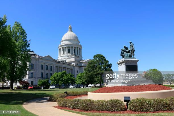 Arkansas State Capitol building and grounds in Little Rock Arkansas.