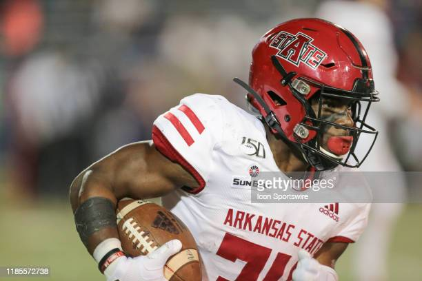 Arkansas State Red Wolves running back Marcel Murray during the South Alabama versus Arkansas State game on November 29 at Ladd-Peebles Stadium,...