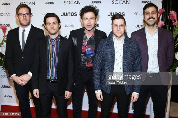 Arkells arrive on the red carpet for the 2019 Juno Gala Dinner and Awards at the London Convention Centre on March 16, 2019 in London, Canada.