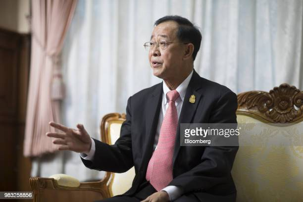 Arkhom Termpittayapaisith Thailand's transport minister speaks during an interview in Bangkok Thailand on Thursday June 21 2018 Thailand will seek...