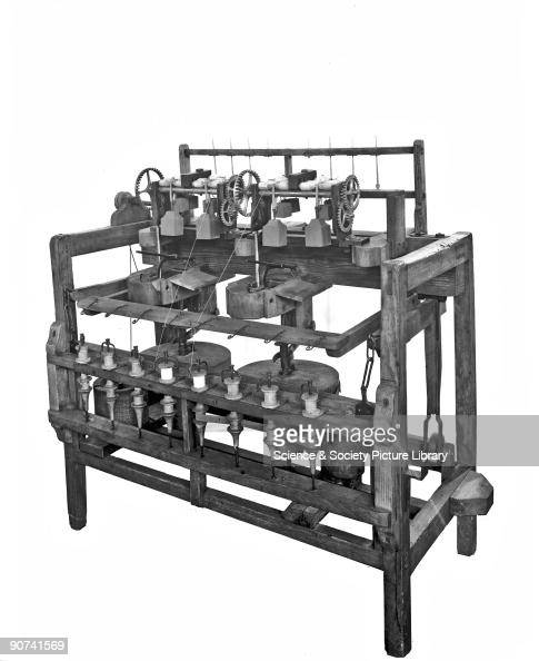 Arkwright\'s improved water frame spinning machine, 1775. Pictures ...