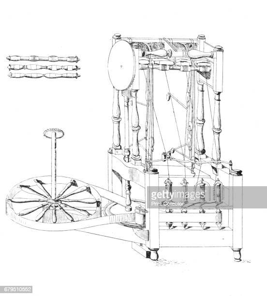 Arkwright's Spinning Jenny, 1769' . From Social England, Volume V, edited by H.D. Traill, D.C.L. And J. S. Mann, M.A. [Cassell and Company, Limited,...