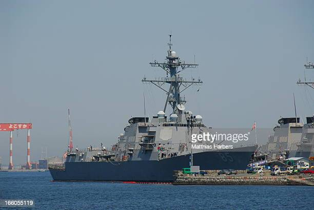 CONTENT] Arleigh Burkeclass destroyer class US Navy Seen at Yokosuka Kanagawa Japan