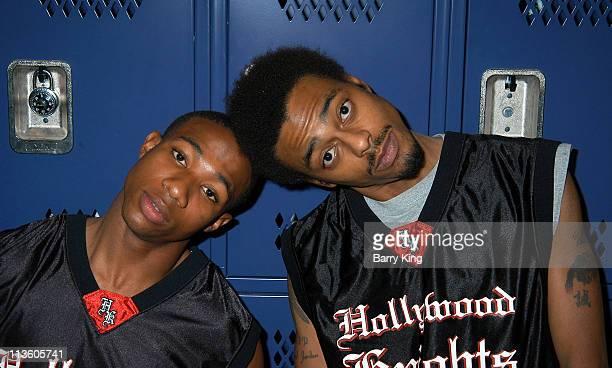 Arlen Escarpeta and Teck Money during Hollywood Knights Basketball GameSan Gabriel at Gabrielino High School in San Gabriel California United States