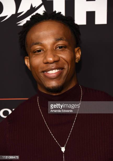 Arlen Escarpeta arrives at Sony Crackle's 'The Oath' Season 2 exclusive screening event at Paloma on February 20 2019 in Los Angeles California
