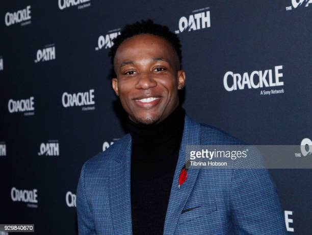 Arlen Escarpeta attends the premiere of Crackle's 'The Oath' at Sony Pictures Studios on March 7 2018 in Culver City California