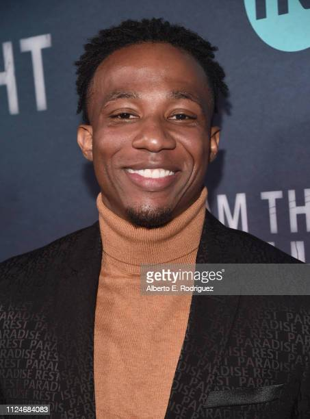Arlen Escarpeta attends the premiere of TNT's 'I Am The Night' at Harmony Gold on January 24 2019 in Los Angeles California