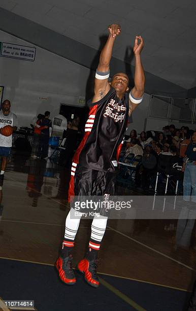Arlen Escarpeta during Hollywood Knights Charity Basketball Game Bellflower at St John Bosco High School in Bellflower California United States