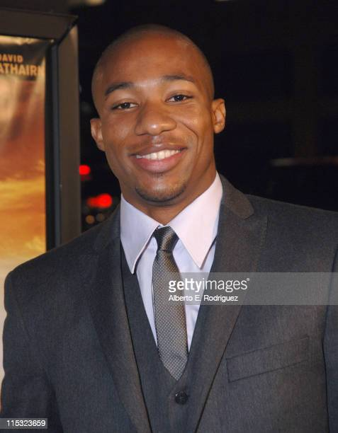 Arlen Escarpeta during 'We Are Marshall' Los Angeles Premiere in Los Angeles CA United States