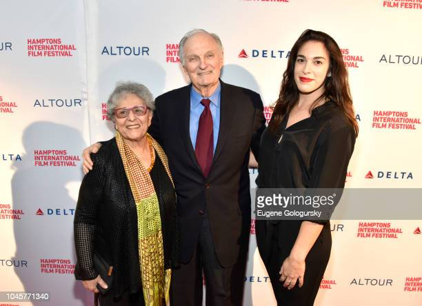 Arlene Alda Alan Alda and Emi Caligiuri attend the Red Carpet for The Kindergarten Teacher at Guild Hall on October 4 2018 in East Hampton New York
