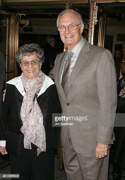 Arlene Alda and Actor Alan Alda attend the opening night of Superior Donuts on Broadway at the Music Box Theatre on October 1 2009 in New York City