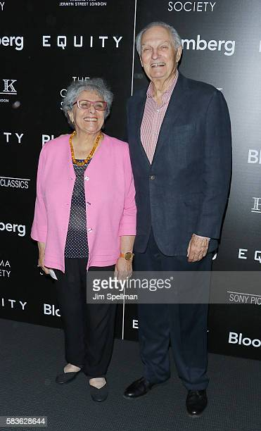 Arlene Alda and actor Alan Alda attends the screening of Sony Pictures Classics' Equity hosted by The Cinema Society with Bloomberg Thomas Pink at...